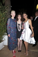 Tilda Swinton Lilly Collins & Patricia Contreras - HFPA - Golden Globes
